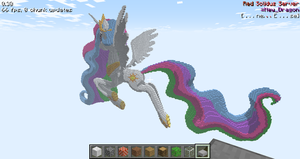 Minecraft 3D Princess Celestia Angle 2 by sukinoMC