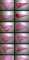 Pinkie Pie Origami Folding Process by mitanei