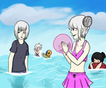 .flow anime beach episode by Alkuto