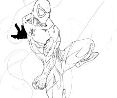 Spiderman Quick Sketch by Anothen