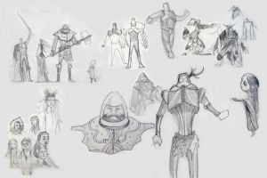GreenKnight sketches concepts by stevenjamestaylor