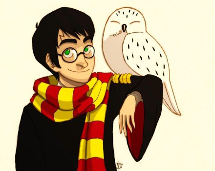 Harry and Hedwig by Kriegswaffle