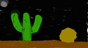 Desert at Night by EarWaxKid