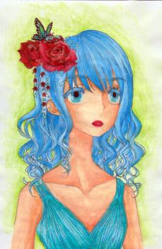 Roses are red, My Hair is Blue by shoujo-otaku