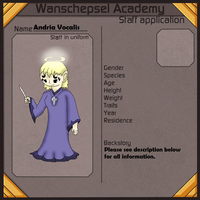 (NPC) W.Academy Application - Andria Vocalis by Dianamond