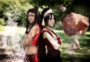 Katara and Toph Bei Fong, avatar by TophWei