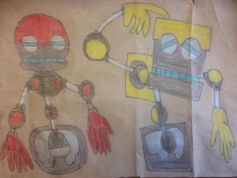 Orbot and Cubot by HazardFire715
