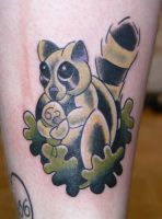 Racoon Tattoo by Hopeandglorytattoo