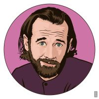 George Carlin by monsteroftheid