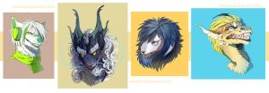 Headshots Commissions by Nerior