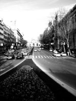 Running on Champs-Elysees by LinaElShamy