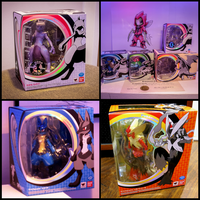 All 6 Pokemon Bandai/S.H.Figuarts Poseable Toys by gold94chica