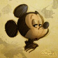 Mickey Mouse rapid sketch by MarioOscarGabriele