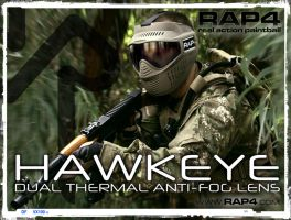 RAP4 Hawkeye Goggles by RealActionPaintball