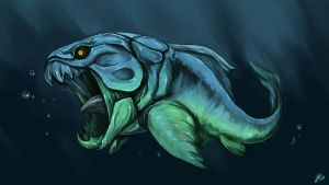 Dunkleosteus by Silver-Fate