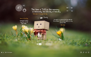 Rainmeter Cute Danbo Setup (Part 1) by cloudedhearts