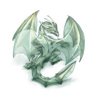 Glass Drake by butterfrog