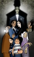 The Addams Family colored by Balsavor