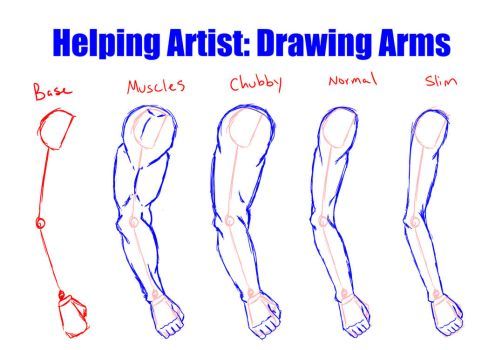 Helping Artist: Drawing Arms by Vesenia
