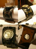 Steampunk Skeleton Wrist Watch by Zackary