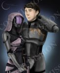 Commission:  Tali and Friend by Armesan