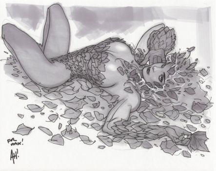 Poison Ivy Sketch by AdamHughes