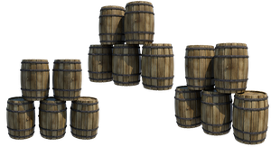 Wooden Barrels 2, PNG by fumar-porros