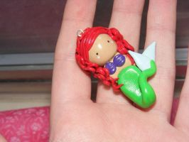 Ariel,The little mermaid charm by HopieNoelle
