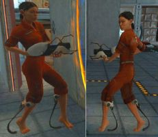 Portal - Test Subject Chell by evechansan