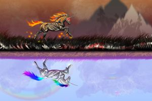 Robot Unicorn Attack Wallpaper by Anatomical-Automaton