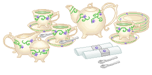 Pixel Teaset by Buried-Above-Love