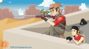 Military Sniper Scout Team by Fir3Ph03n1X