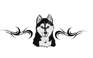 Husky Lower Back Tattoo Design by CanineCanvas