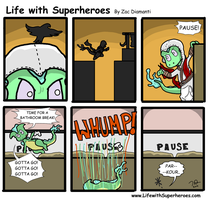 Life with Superheroes #18 by ZacAvalanche