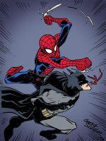 Spider-Man vs. Batman by Gregg Schigiel by edCOM02