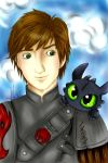 Hiccup and Toothless! by LisaPita