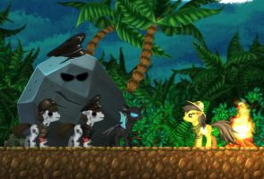 Indiana Jones style enemies for Daring Do game by alexmakovsky