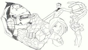 sketchy : Fantastic Four by KidNotorious