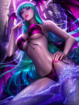 Swimsuit Morrigan, by MichelleHoefener by Antsstyle