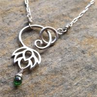 Lotus Drop Necklace by Glamourpuss15