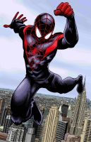 Ultimate Spider-Man Color by artistjerrybennett