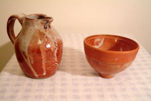 pitcher and bowl by Recycled-Oxygen