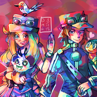 Pokemon X and Y by LadyKuki