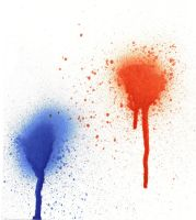 Blue and Orange Spray Paint by kizistock