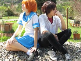 Thinking of you [Keiichi and Rena Cosplay] by Amiranne