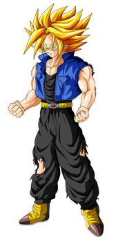 Trunks Super Saiyan (ascended) by OriginalSuperSaiyan