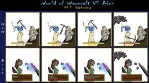 WoW VS Aion 1: Gathering by lorestra