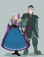 Anna and Kristoff by brusierkee