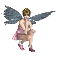 Pink Fairy 04 PNG Stock by Roys-Art
