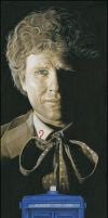 Dr Who 6th Doctor signed art by caldwellart